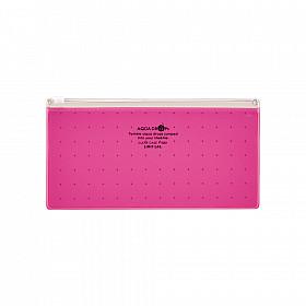 LIHIT LAB Aquadrops Clear Case Zipperbag voor Pennen - Rood