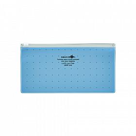 LIHIT LAB Aquadrops Clear Case Zipperbag voor Pennen - Blauw