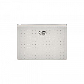 LIHIT LAB Aquadrops Clear Case Zipperbag - Maat A5 - Wit