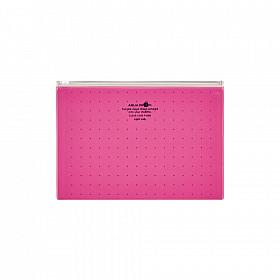LIHIT LAB Aquadrops Clear Case Zipperbag - Maat A5 - Rood
