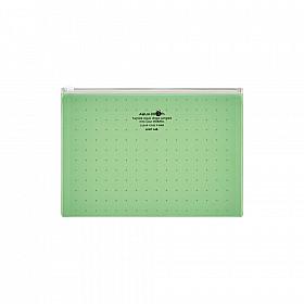 LIHIT LAB Aquadrops Clear Case Zipperbag - Maat A5 - Groen