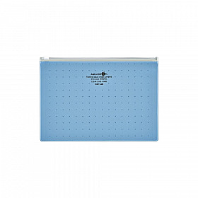 LIHIT LAB Aquadrops Clear Case Zipperbag - Maat A5 - Blauw