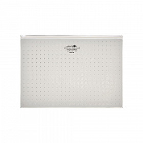 LIHIT LAB Aquadrops Clear Case Zipperbag - Maat A4 - Wit