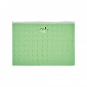 LIHIT LAB Aquadrops Clear Case Zipperbag - Maat A4 - Groen