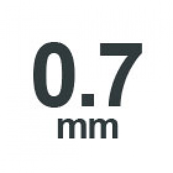 0.7 mm