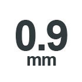 0.9 mm