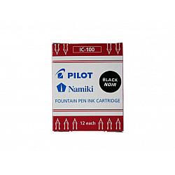 Pilot IC-50/IC-100 Vulpen Inktpatronen - Zwart (Doosje van 12)