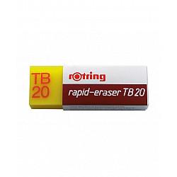 Rotring TB 20 Rapid Eraser Gum - Voor potlood en inkt - Groot