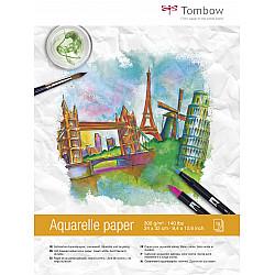 Tombow Aquarelle Watercolour Aquarelpapier Bloc - 24 x 32 cm - Creme White - 300g papier - 15 vellen