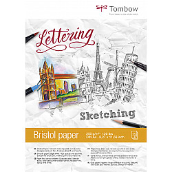 Tombow Bristol Tekenblok - A4 - Hagelwit - 250g papier - 25 vellen