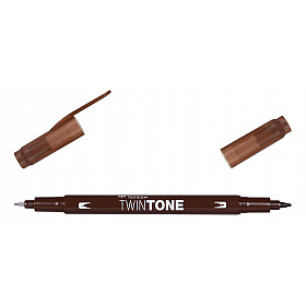 Tombow TwinTone Marker - Chocolate