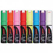Uni PWE-8K Chalk Marker Uitwisbare Krijtstiften (Breed)