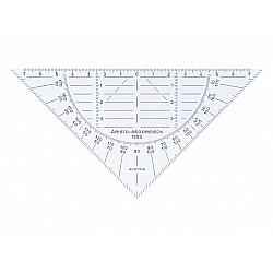 Aristo 1550 Flexibele Geodriekhoek - 16 cm - Transparant