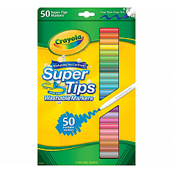 Crayola Supertips Uitwasbare Viltstiften - Set van 50