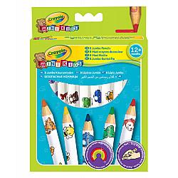 Crayola Jumbo Coloured Pencils - Set van 8 Grote Kleurpotloden