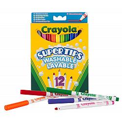 Crayola Supertips Uitwasbare Viltstiften - Set van 12