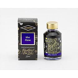 Diamine Shimmering Vulpen Inkt - 50 ml - Blue Flame