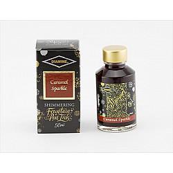 Diamine Shimmering Vulpen Inkt - 50 ml - Caramel Sparkle