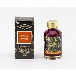 Diamine Shimmering Vulpen Inkt - 50 ml - Inferno Orange