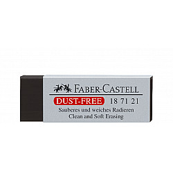 Faber-Castell 187121 Dust-Free Eraser Gum - Medium - Zwart