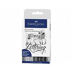 Faber-Castell Pitt Artist Pens Handlettering Starter Set - Set van 9