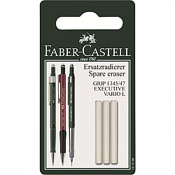 Faber-Castell GRIP 1345/1347/Executive/Vario L Vulpotlood Reserve Gum - Set van 3
