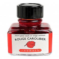 J. Herbin Inktpot - 30 ml - Johannesbroodboom Rood - Rouge Caroubier