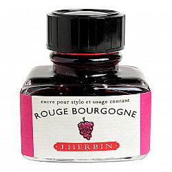 J. Herbin Inktpot - 30 ml - Bourgogne Rood - Rouge Bourgogne