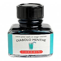 J. Herbin Inktpot - 30 ml - Diabolo Munt - Diabolo Menthe