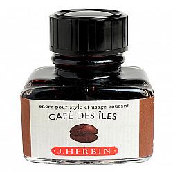 J. Herbin Inktpot - 30 ml - Exotische Koffie - Cafe des Iles