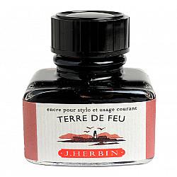 J. Herbin Inktpot - 30 ml - Vuurland - Terre de Feu