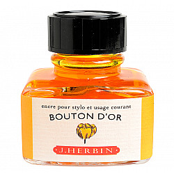 J. Herbin Inktpot - 30 ml - Goudgeel - Bouton d'Or