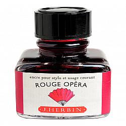 J. Herbin Inktpot - 30 ml - Donkerrood - Rouge Opera