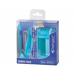 Kangaro Aion 10G Nietmachine & Perforator Combipack - Lichtblauw