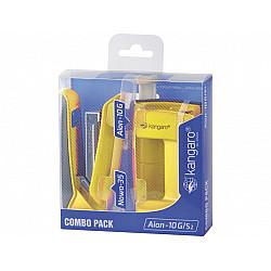 Kangaro Aion 10G Nietmachine & Perforator Combipack - Geel