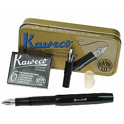 Kaweco Sport Calligraphy Pen Set in Metalen Doosje - Zwart