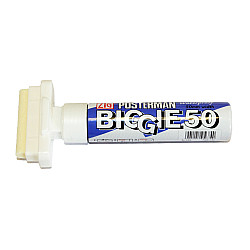 Kuretake ZIG Posterman Biggie 50 Short Marker - 50 mm Breed - Wit