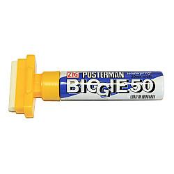 Kuretake ZIG Posterman Biggie 50 Short Marker - 50 mm Breed - Geel
