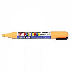 Kuretake ZIG Posterman Sign Chalkmarker - Beitel - Fluo Oranje