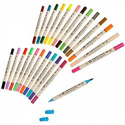 Kuretake ZIG Fabricolor Twin Textiel Marker - Dubbelzijdig - 24 Kleuren & Blender (Los per stuk)