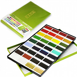 Kuretake Gansai Tambi Water Colours Brush Set - 36 kleuren