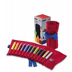 LAMY 3plus Extra Dik Kleurpotlood - Set van 12 in roletui