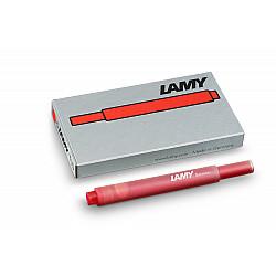 LAMY T 10 Vulpen Vulling - Rood (Set van 5)
