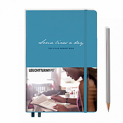 Leuchtturm1917 Some Lines a Day - the 5 Year Memory Notebook / Dagboek - Nordic Blue