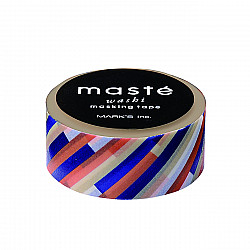 Mark's Japan Maste Washi Masking Tape - Navy Stripes
