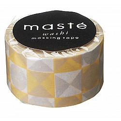 Mark's Japan Maste Washi Masking Tape - Coloured Tile Yellow (Limited Edition)