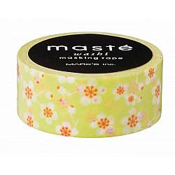 Mark's Japan Maste Washi Masking Tape - Green Plum Flower (Japan Limited Edition)