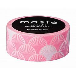 Mark's Japan Maste Washi Masking Tape - Pink Seigaiha (Japan Limited Edition)