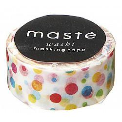 Mark's Japan Maste Washi Masking Tape - Colourful Dots (Limited Edition)