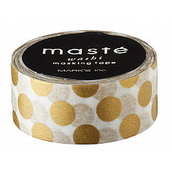 Mark's Japan Maste Washi Masking Tape - Gold Polka Dots (Limited Edition)